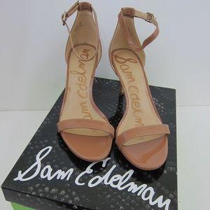 Sam Edelman Heels Sandals Patti Evening Tan 7.5